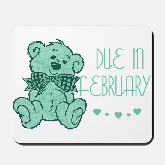 Green Marble Teddy Due February Mousepad