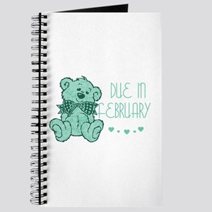 Green Marble Teddy Due February Journal