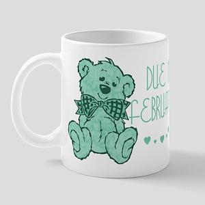 Green Marble Teddy Due February Mug