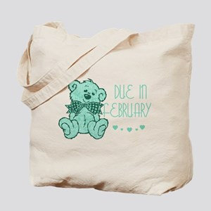 Green Marble Teddy Due February Tote Bag