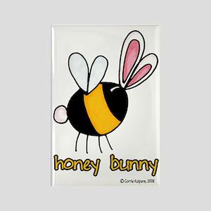 Honey Bunny Rectangle Magnet
