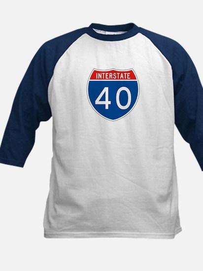 Interstate 40, USA Kids Baseball Jersey