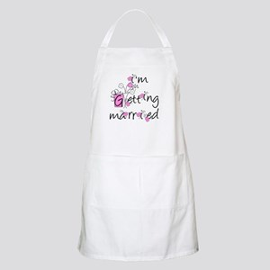 Flowers I'm Getting Married BBQ Apron