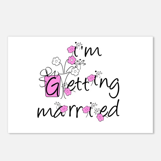 Flowers I'm Getting Married Postcards (Package of
