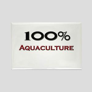 100 Percent Aquaculture Rectangle Magnet