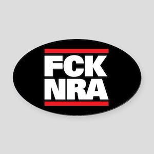 FCK NRA Oval Car Magnet