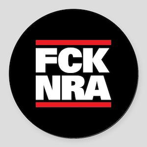 FCK NRA Round Car Magnet