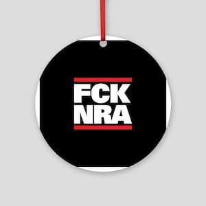 FCK NRA Round Ornament