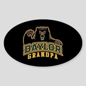Baylor Grandpa Bear Sticker (Oval)