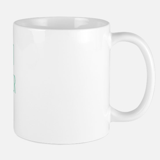 Green Marble Teddy Due December Mug
