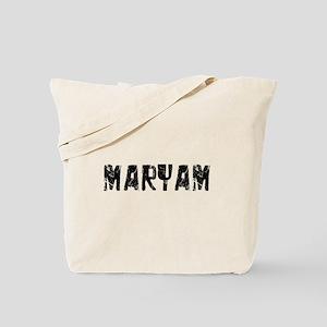 Maryam Faded (Black) Tote Bag