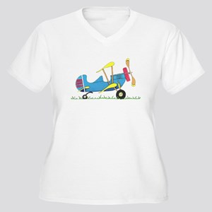 Toy Biplane Women's Plus Size V-Neck T-Shirt
