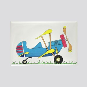 Toy Biplane Rectangle Magnet