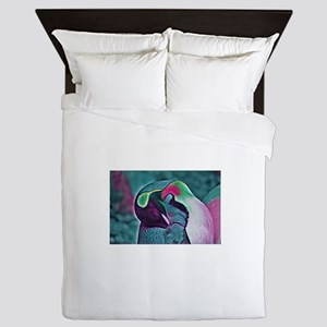 Rainbow Penguin Queen Duvet