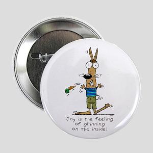 Joyful Rabbit Button