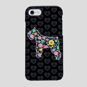 Cute Love My Schnauzer flora iPhone 8/7 Tough Case