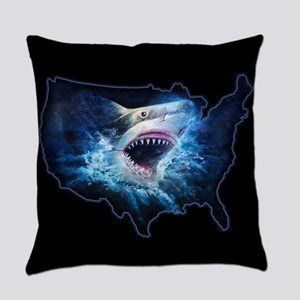 Shark Attack Everyday Pillow