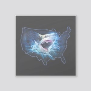 "Shark Attack Square Sticker 3"" x 3"""
