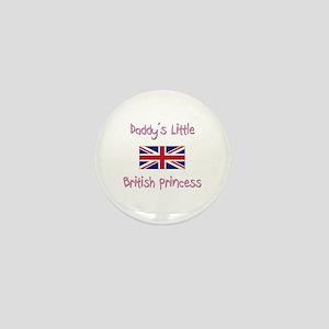 Daddy's little British Princess Mini Button