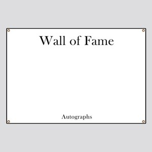 Autograph Banner - Wall of Fame