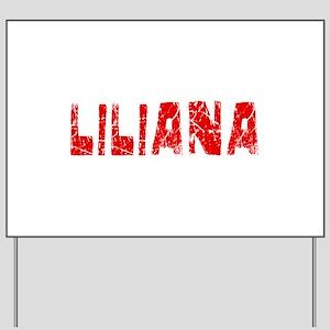 Liliana Faded (Red) Yard Sign