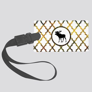Moose: Fall Colors Moroccan Patt Large Luggage Tag
