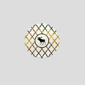 Moose: Fall Colors Moroccan Pattern Mini Button