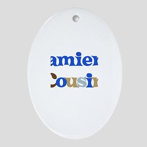 Damien's Cousin Oval Ornament