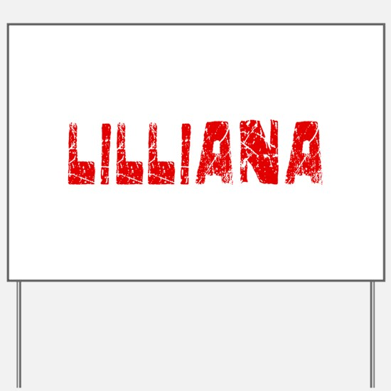 Lilliana Faded (Red) Yard Sign