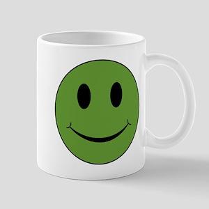 Green Smiley Face 11 oz Ceramic Mug