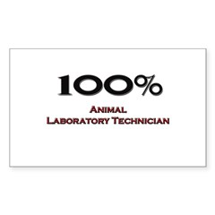 100 Percent Animal Laboratory Technician Decal