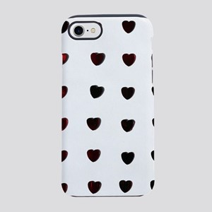 Black and Red Hearts on Gray iPhone 8/7 Tough Case