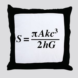 hawkings equation Throw Pillow