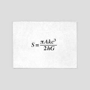 hawkings equation 5'x7'Area Rug