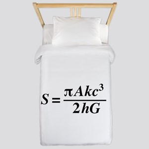 hawkings equation Twin Duvet Cover