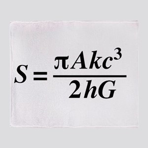 hawkings equation Throw Blanket