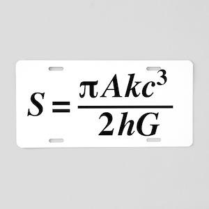 hawkings equation Aluminum License Plate
