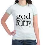 344. god & country.. Jr. Ringer T-Shirt