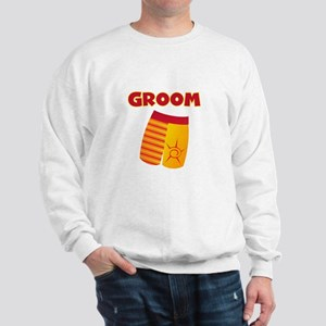 Swim Trunks Groom Sweatshirt