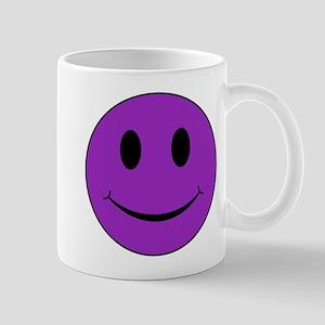 Purple Smiley Face 11 oz Ceramic Mug