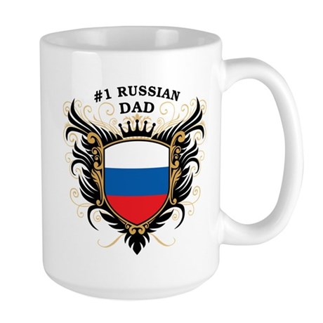 Number One Russian Dad Large Mug