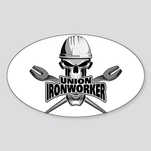 Union Ironworker Skull Sticker