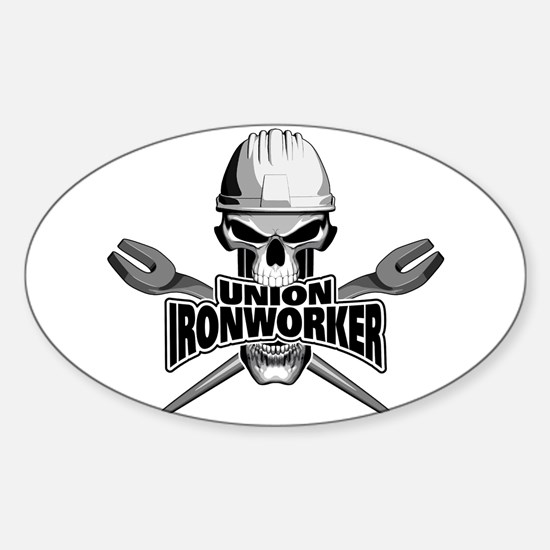 Union Ironworker Skull Decal