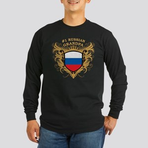 Number One Russian Grandpa Long Sleeve Dark T-Shir
