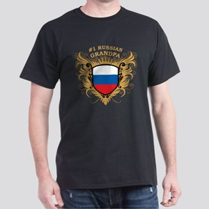 Number One Russian Grandpa Dark T-Shirt