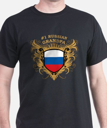 Number One Russian Grandpa T-Shirt