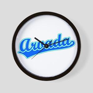 Retro Arvada (Blue) Wall Clock