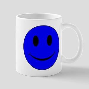 Blue Smiley Face 11 oz Ceramic Mug
