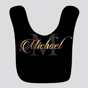 Name and initial of a boy Micha Polyester Baby Bib