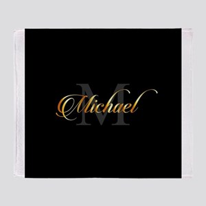Name and initial of a boy Michael in Throw Blanket